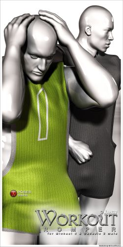 Workout Romper for Michael 4 and Genesis 2 male