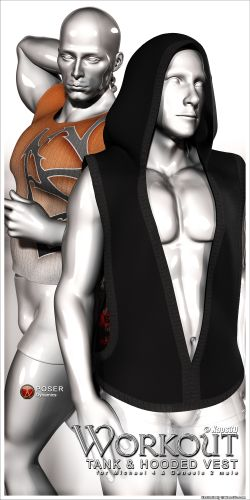 Workout Tank and Hooded Vest for Michael 4 & Genesis 2 male