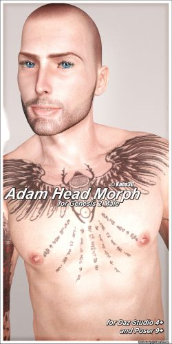 Adam Head Morph for Genesis 2 Male