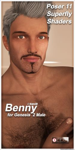 Poser 11 Superfly Shaders for Benny for Genesis 2 Male